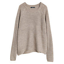 Buy Mango Textured Jumper, Taupe Online at johnlewis.com