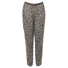 Buy Coast Alura Beaded Trousers, Silver Online at johnlewis.com