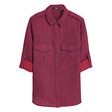 Buy Mango Red Check Cotton Shirt, Medium Red Online at johnlewis.com