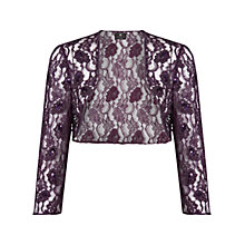 Buy Ariella Adia Lace & Bead Bolero, Plum Online at johnlewis.com