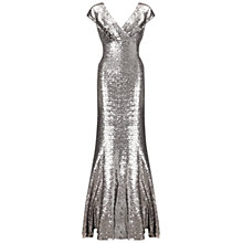 Buy Ariella Venetia Long Sequin Dress, Silver Online at johnlewis.com