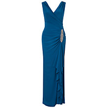 Buy Ariella Celina Jersey Long Dress, Teal Online at johnlewis.com