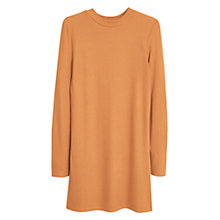 Buy Mango Ribbed Slit T-Shirt, Medium Brown Online at johnlewis.com