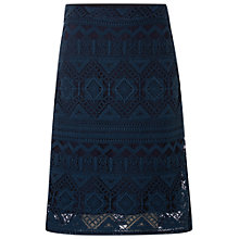 Buy White Stuff Unconditional Love Skirt, Navy Online at johnlewis.com