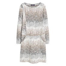 Buy Mango Textured Cotton Blend Dress, Cream/Beige Online at johnlewis.com