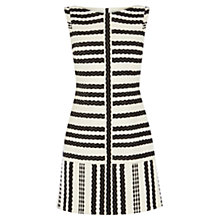 Buy Karen Millen Stripe Shift Dress, Black/White Online at johnlewis.com