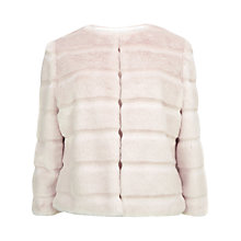 Buy Ted Baker Fabunni Faux Fur Jacket, Nude Pink Online at johnlewis.com