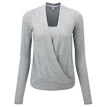 Buy Pure Collection Eden Sparkle Wrap Top, Silver Sparkle Online at johnlewis.com