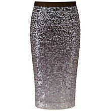 Buy Pure Collection Glazbury Sequin Pencil Skirt, Grey Ombre Online at johnlewis.com