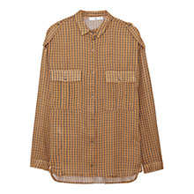 Buy Mango Geometric Print Shirt, Medium Yellow Online at johnlewis.com