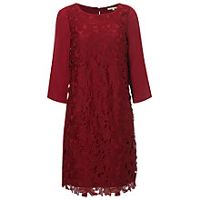 Buy White Stuff Floral Lace Dress, Rich Red Online at johnlewis.com