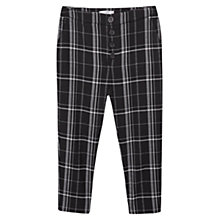 Buy Mango Checked Cropped Trousers, Black Online at johnlewis.com