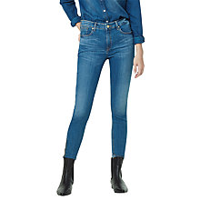 Buy Mango Slim-Fit Tattoo Jeans, Open Blue Online at johnlewis.com