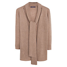 Buy Mango Long Wool-Blend Cardigan, Sand Online at johnlewis.com