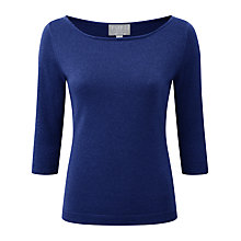 Buy Pure Collection Gainsborough Sparkle Jumper, Deep Sapphire Sparkle Online at johnlewis.com