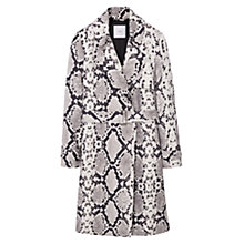 Buy Mango Animal Print Trench Coat, Light Beige Online at johnlewis.com
