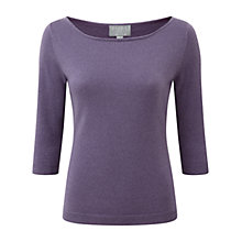 Buy Pure Collection Hadley Sparkle Jumper, Smokey Mauve Sparkle Online at johnlewis.com