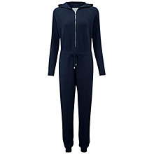Buy Pure Collection Inworth Cashmere Jumpsuit, Navy Online at johnlewis.com