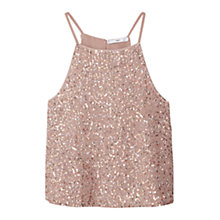 Buy Mango Sequined Top, Pastel Pink Online at johnlewis.com