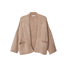 Buy Mango Side Pocket Cardigan, Light Pastel Brown Online at johnlewis.com