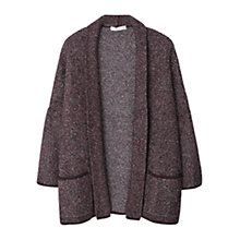 Buy Mango Flecked Jacket, Dark Red Online at johnlewis.com