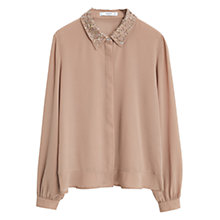 Buy Mango Beaded Neck Blouse Online at johnlewis.com