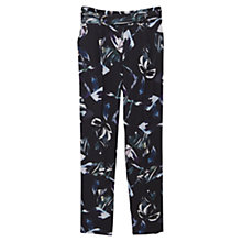 Buy Mango Flowy Printed Trousers, Navy Online at johnlewis.com