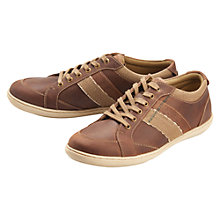 Buy Barbour Weber Leather Lace-Up Trainers, Dark Brown Online at johnlewis.com