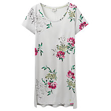 Buy Joules Florian Floral Nightdress, Silver Online at johnlewis.com