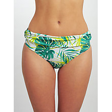 Buy John Lewis Llenya Leaf Fold Briefs, White/Green Online at johnlewis.com