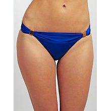 Buy John Lewis Shine Ruched Bar Bikini Briefs, Cobalt Online at johnlewis.com