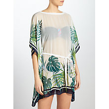 Buy John Lewis Llenya Leaf Kaftan, White/Green Online at johnlewis.com