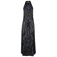 Buy True Decadence Embellished Halter Maxi Dress, Black Online at johnlewis.com