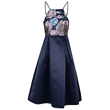 Buy True Decadence High Neck Flared Midi Dress, Navy Online at johnlewis.com