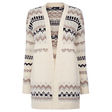 Buy Warehouse Fairisle Cardigan, Cream Online at johnlewis.com