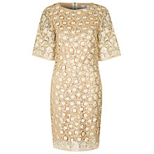 Buy True Decadence Lace Sequin Dress, Gold Online at johnlewis.com