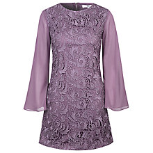 Buy True Decadence Sheer Sleeve Tunic Dress, Purple Online at johnlewis.com