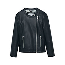 Buy Mango Kids Girls' Zipped Biker Jacket, Black Online at johnlewis.com