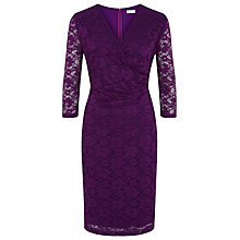 Buy Kaliko Lace Ruched Shift Dress, Purple Online at johnlewis.com