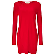 Buy Phase Eight Dotty Draped Tunic Top, Red Online at johnlewis.com