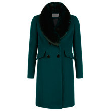 Buy Kaliko Brushed Wool Coat, Dark Green Online at johnlewis.com