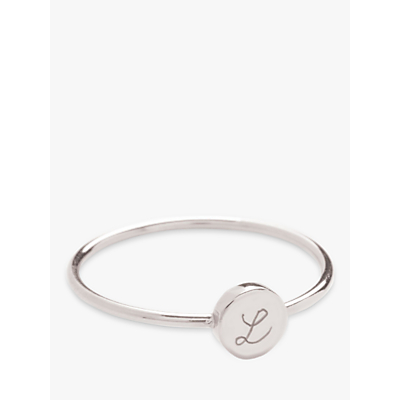 Merci Maman Personalised Initial Disc Ring