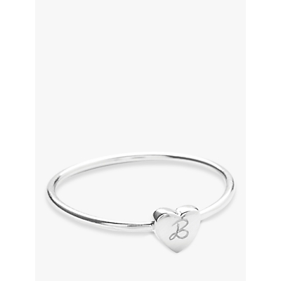 Merci Maman Personalised Initial Heart Ring