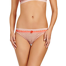 Buy Stella McCartney Millie Drawing Bikini Briefs, Fluo Orange/Pink Clay Online at johnlewis.com