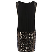 Buy Coast Margarite Embellished Dress, Gun Metal Online at johnlewis.com
