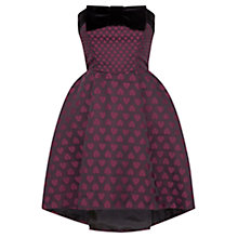 Buy Coast Ophelia Heart Jacquard Dress, Merlot Online at johnlewis.com