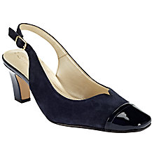 Buy John Lewis Made in England Coleford Wide Fitting Court Shoes, Navy Suede Online at johnlewis.com