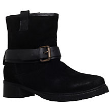 Buy Carvela Trust Buckle Detail Ankle Boot, Black Leather Online at johnlewis.com