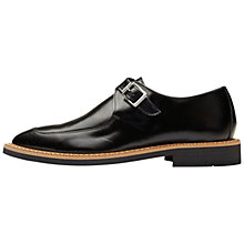 Buy Selected Femme Mira Leather Monk Shoes, Black Online at johnlewis.com