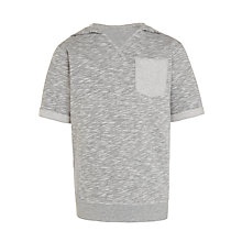 Buy Kin by John Lewis Boys' Loopback Hooded T-Shirt, Grey Online at johnlewis.com